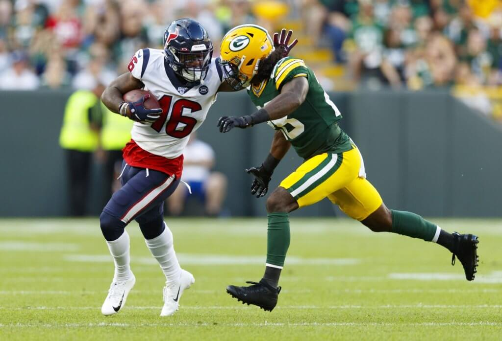 Keke Coutee in preseason game vs Packers