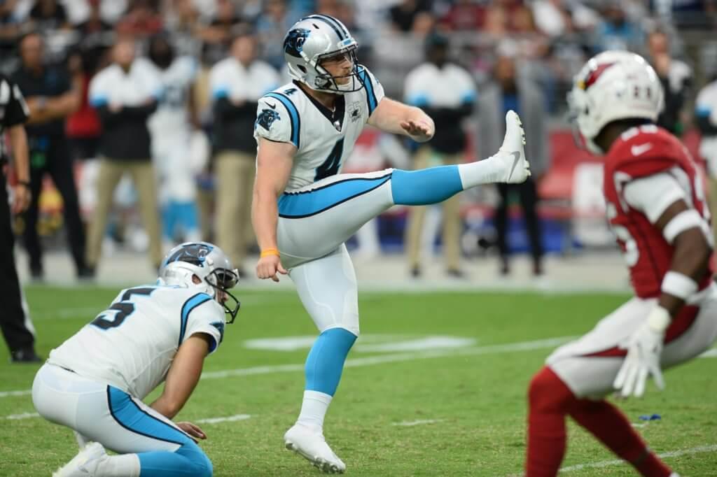 Joey Slye kicking the ball