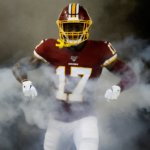 Terry McLaurin emerging from the smoke